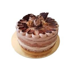 Nugátovo-ořechový dort