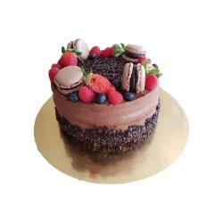 Paříž s ovocem a čokoládou